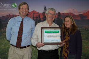 Noel Poe, GSEP (middle) and Linda Whitham, TNC (right) receive award for ERWP