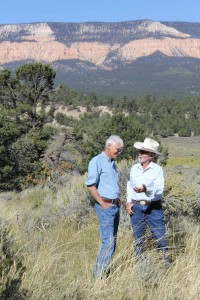 Dennis Bramble, ERWP speaking with Sid Goodloe in the field